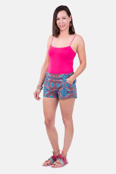 Sommer Outfit selber nähen Shorts Top