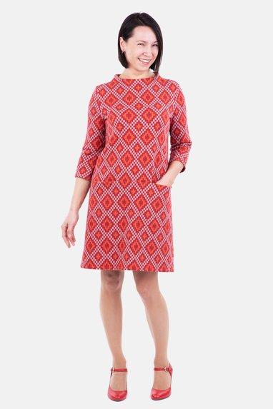 Schnittmuster Kleid A-Linie Albstoffe Jacquard