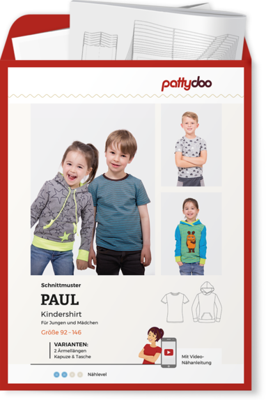 Papierschnittmuster Kindershirt Paul