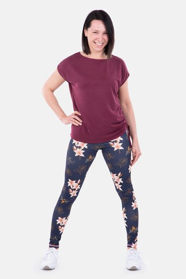 Schnittmuster Yoga-Outfit Shirt Leggings selbst naehen