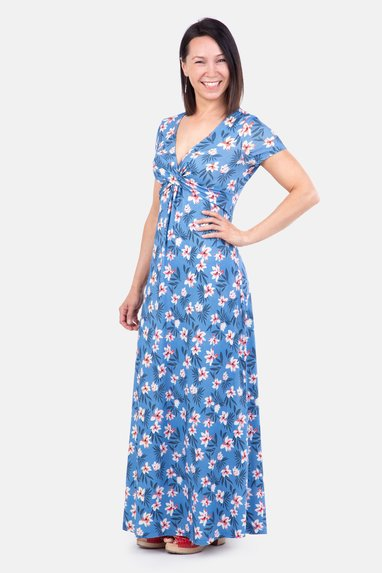 Schnittmuster Frauen Maxikleid Sommer Outfit selber naehen
