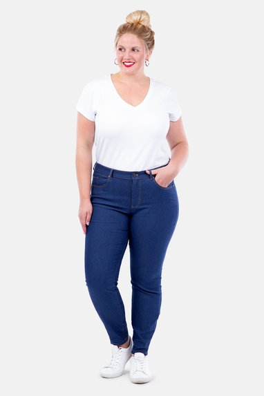 Schnittmuster Jeans curvy size Stretch Denim DIY