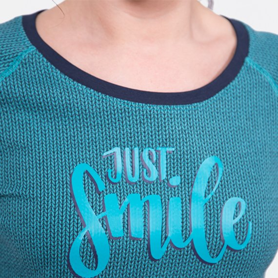 Schnittmuster Pullover Plottmotiv just smile