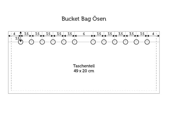 Bucket Bag Ösen Position