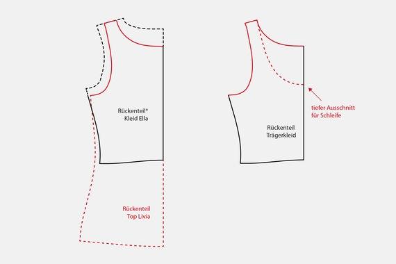 Schnittmuster anpassen Top als Kleid | PATTYDOO