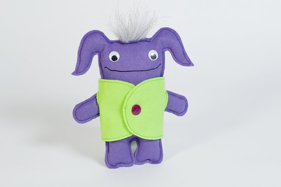 diy felt monster sewing tutoria free finished