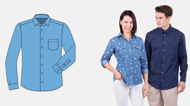 8c5026ef54 Hemden-Schnittmuster für Damen und Herren | PATTYDOO